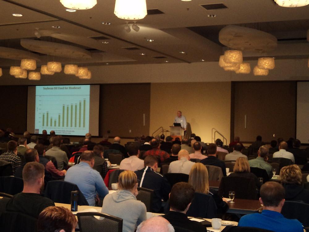 Monday's IL Farm Economics Summit is shown in Champaign / CIFN photo.