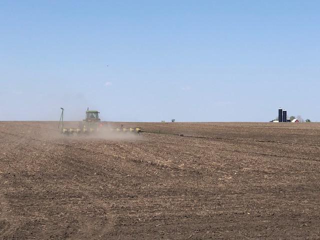 An area farmer plants his crop near Lexington this week / CIFN photo.