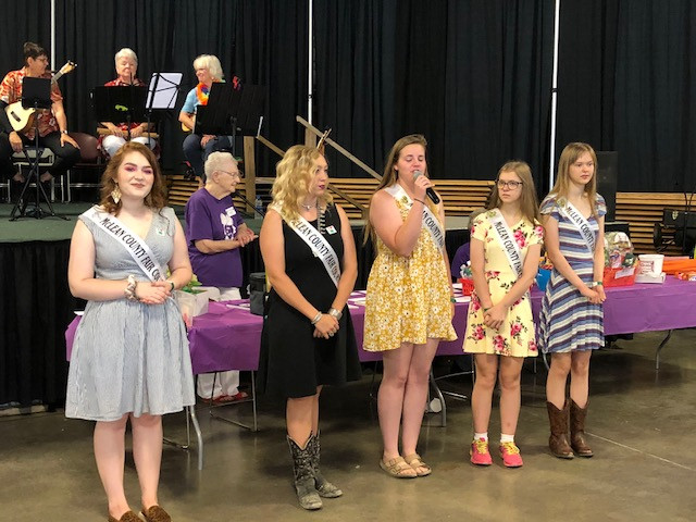 Queen candidates at this year's McLean County Fair in Bloomington.