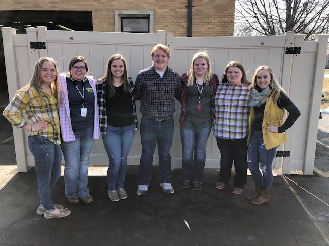 GCMS FFA officers are shown outside the school on Friday / CIFN photo.