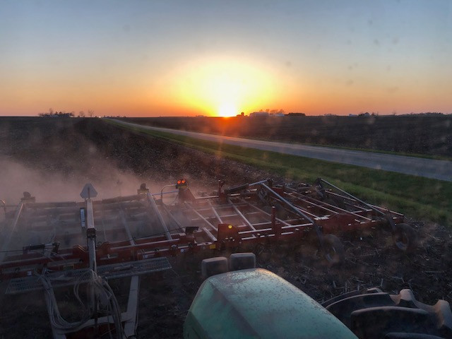 A view from Kent Casson's tractor cab recently / CIFN photo.