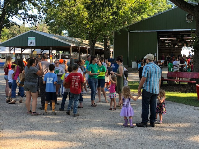 Kids wait to enter projects Wednesday at the Livingston County Ag Fair / CIFN photo.