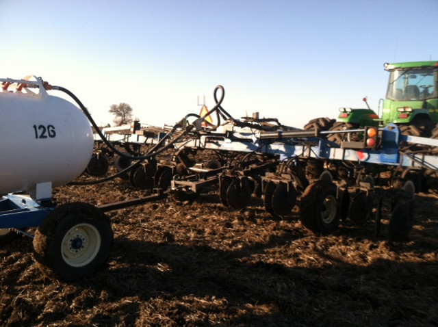 Anhydrous ammonia is applied in Livingston County last year / CIFN file photo.