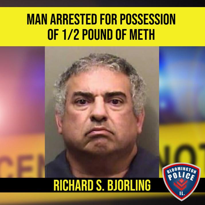 Man arrested for meth possession