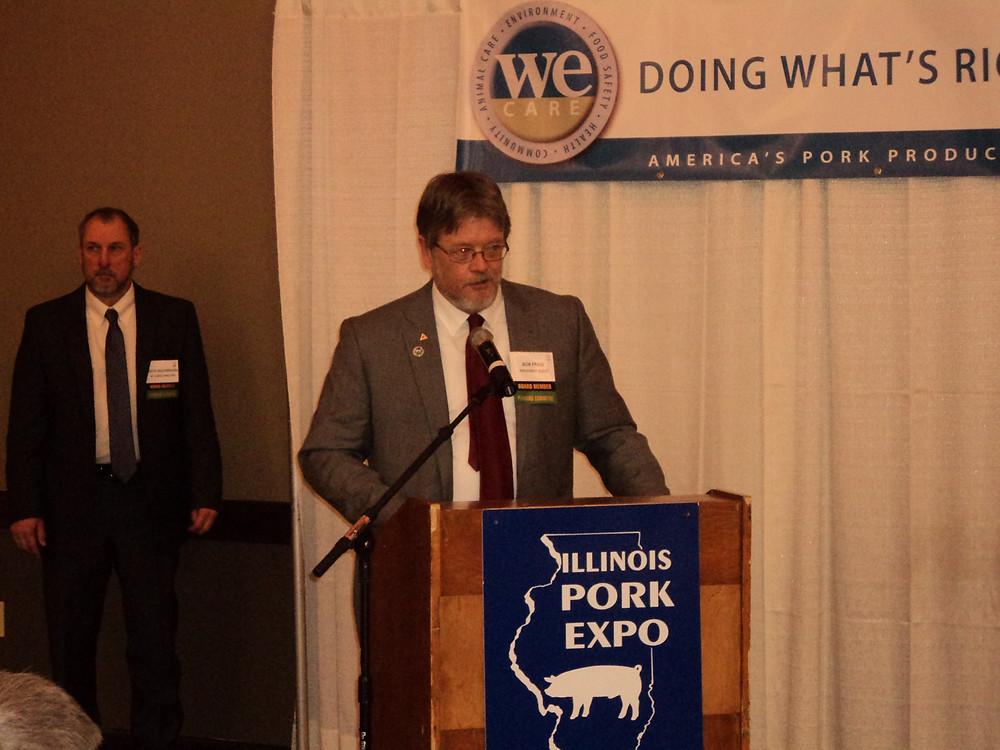 IPPA President Bob Frase is shown at IL Pork Expo last winter / CIFN file photo.