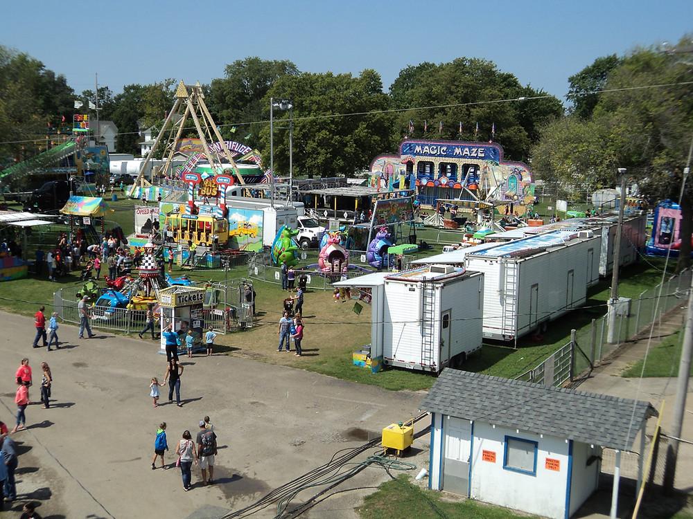 The Fairbury Fair midway is shown / CIFN file photo.