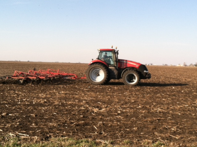 A grower works ground near Flanagan earlier this month / CIFN file photo.