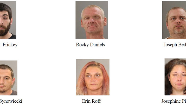 6 arrested after burglaries