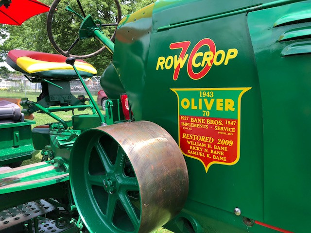 The 1943 Oliver 70 Row Crop tractor is displayed earlier this week / CIFN photo.
