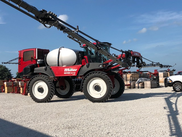 A large sprayer displayed at Jenner Precision of Fairbury last week / CIFN photo.