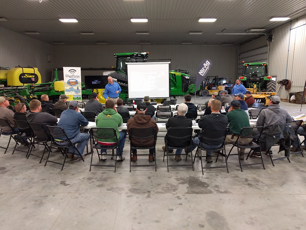 Growers learn about ag technology during an open house at Nu-Ag Technology in Chatsworth / photo courtesy of JD Skaggs.