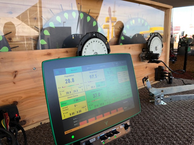 The Precision Planting display at last week's Farm Progress Show.