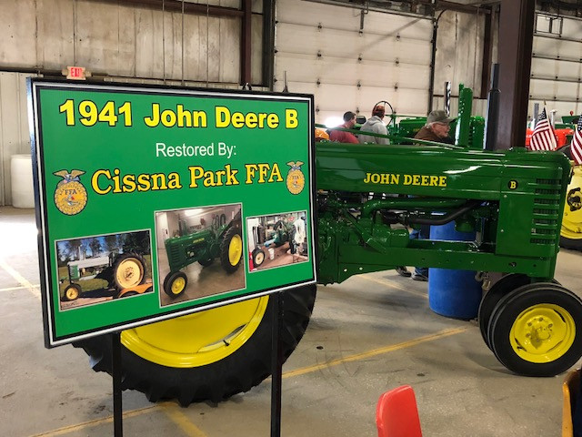 Restored FFA tractors were on display at last week's Gordyville farm show / CIFN photo.