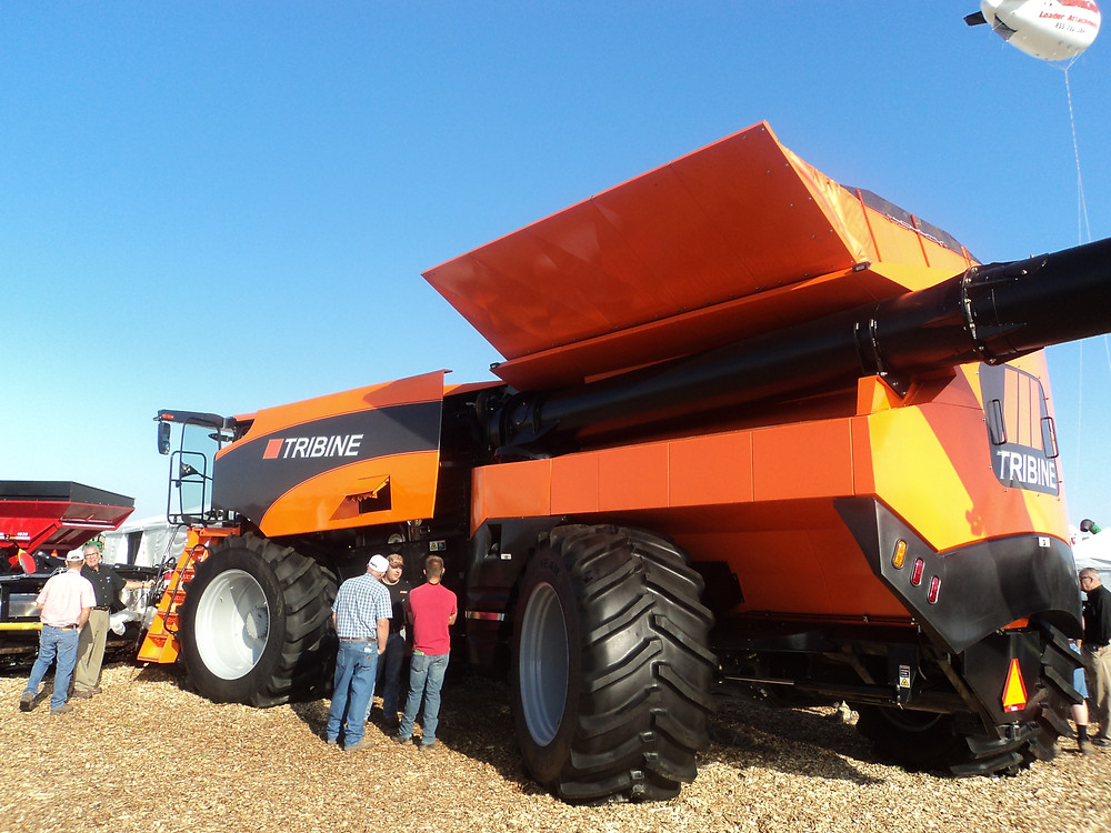 The Tribine is shown at this week's Farm Progress Show in Decatur / CIFN photo.