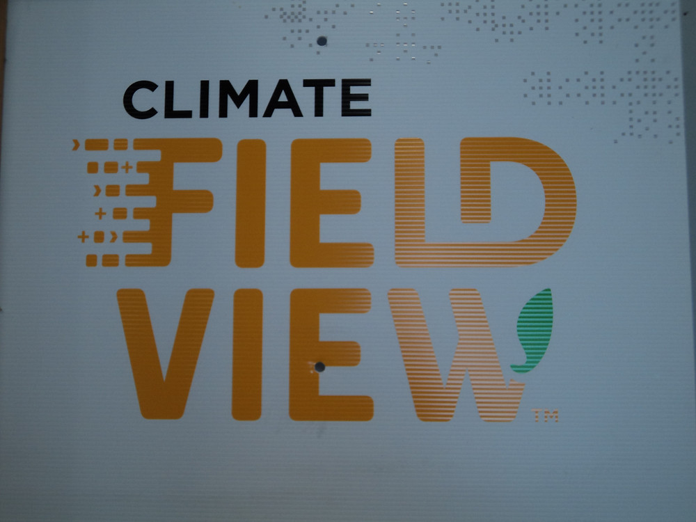 A FieldView sign is displayed during a plot tour hosted by Shorty Stork in August / CIFN photo.