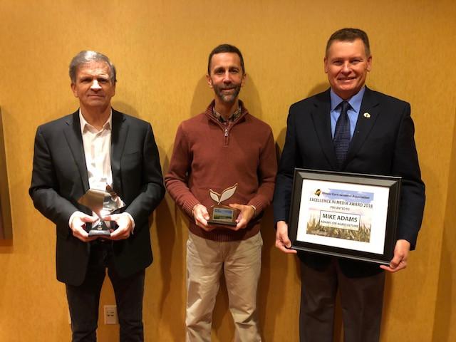 Award winners are shown at last week's annual ICGA meeting / CIFN photo.