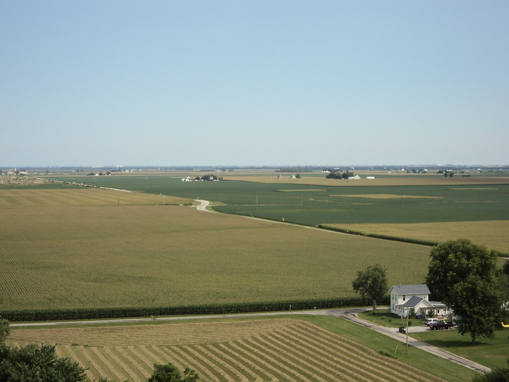An aerial view north of Weston in McLean County / CIFN file photo.