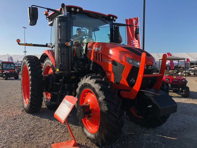 A new tractor is shown at this year's Farm Progress Show / CIFN photo.