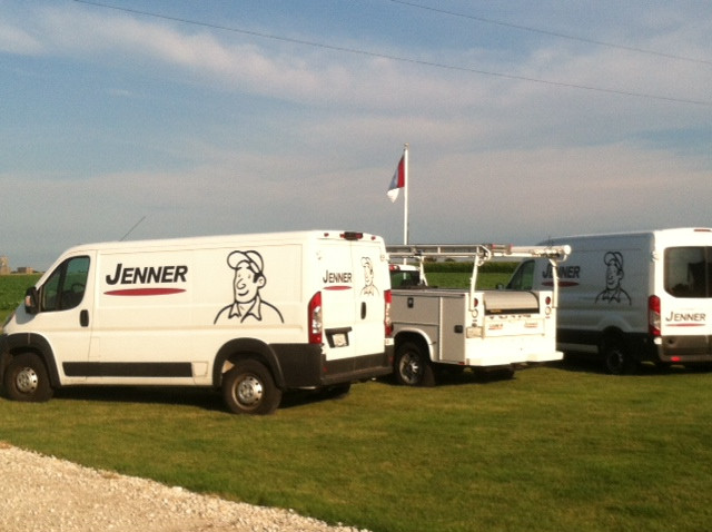 Jenner Precision vehicles are shown during the business's open house last week near Fairbury / CIFN photo.