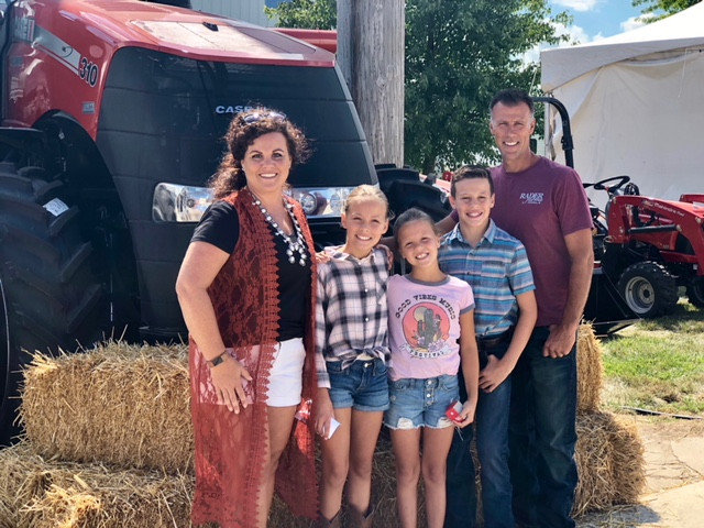 The Rader family visits the McLean County Fair on Wednesday / CIFN photo.