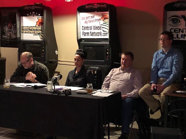 The panel at Tuesday's CIFN Ag Outlook Meeting in Fairbury / CIFN photo.