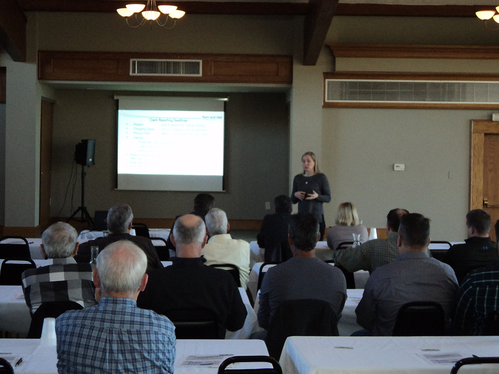 Local farmers attended Wednesday's Ag Outlook meeting hosted by Bank of Pontiac / CIFN photo