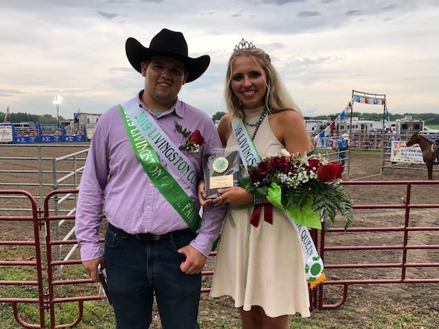 The new Livingston County Fair king & queen / CIFN photo.