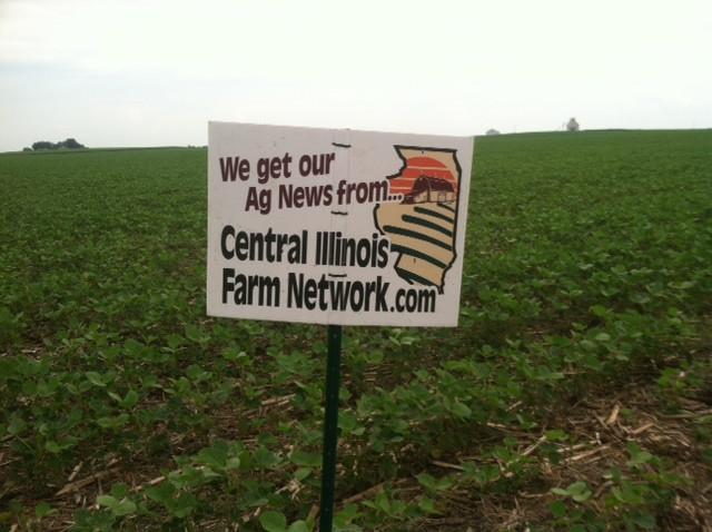 A CIFN sign is displayed in a field near Pontiac / CIFN photo.