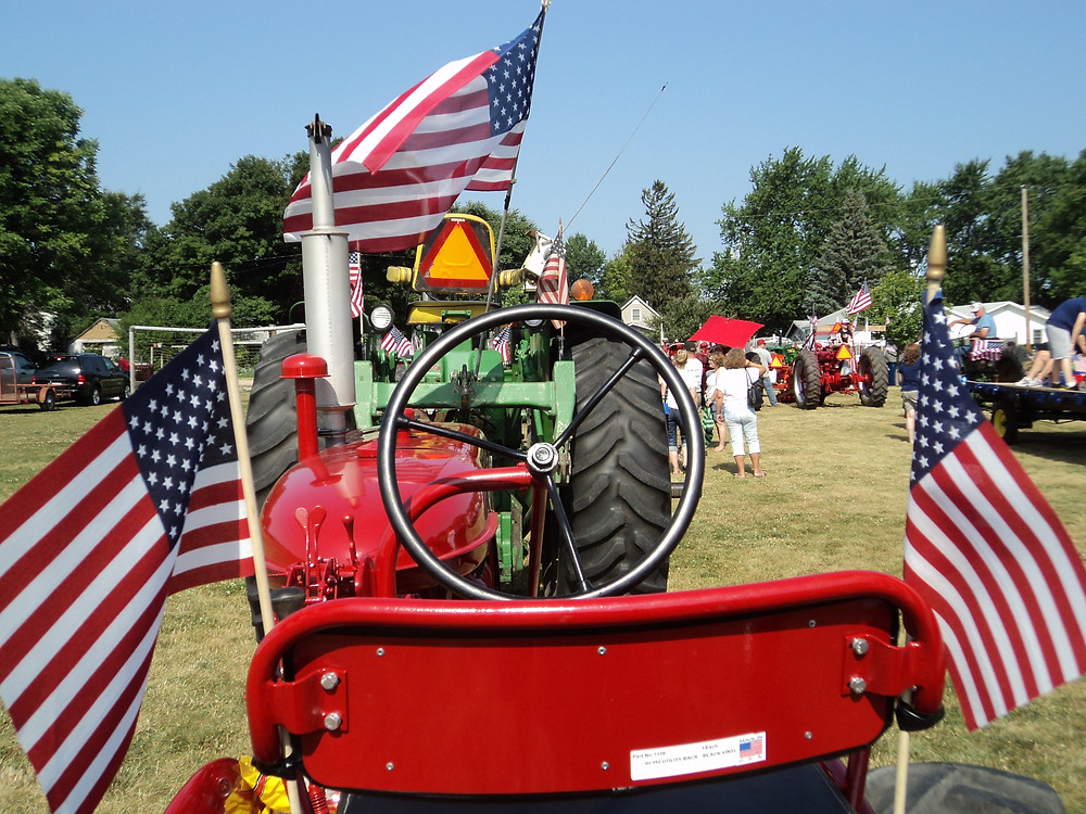 A decorated tractor is shown during a previous Towanda Fourth of July celebration / CIFN file photo.