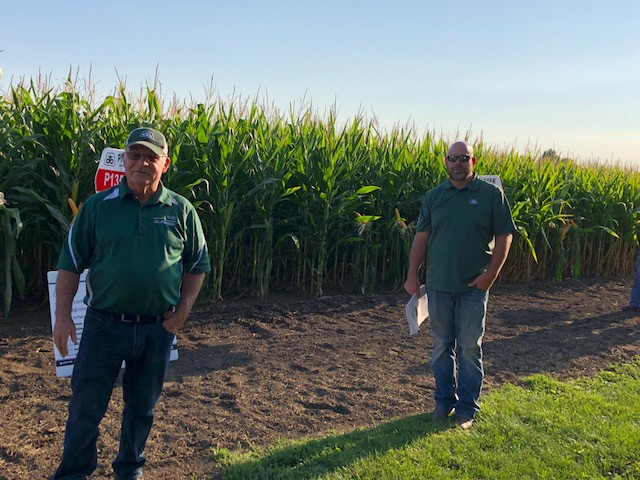 Dale Atkins, left and Dean Atkins shown during their field day last fall / CIFN file photo.