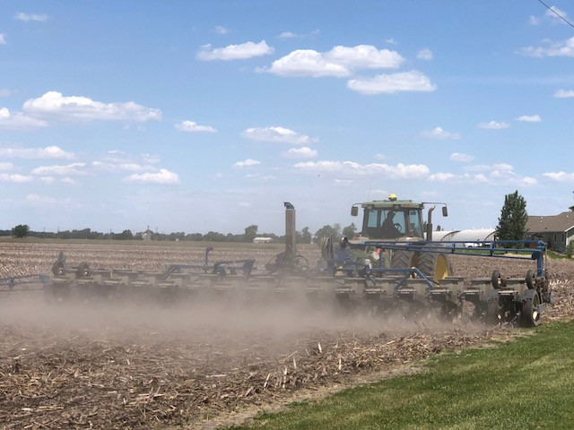 A planter is shown in Livingston County this week / CIFN photo.