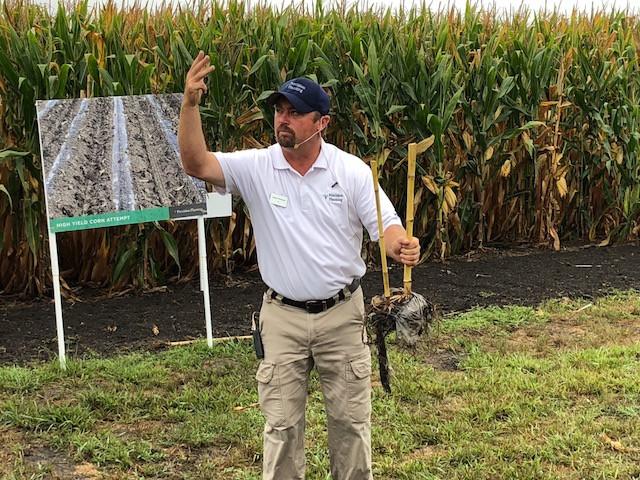 Jason Webster speaks at the PTI Farm in Pontiac last year / CIFN photo.
