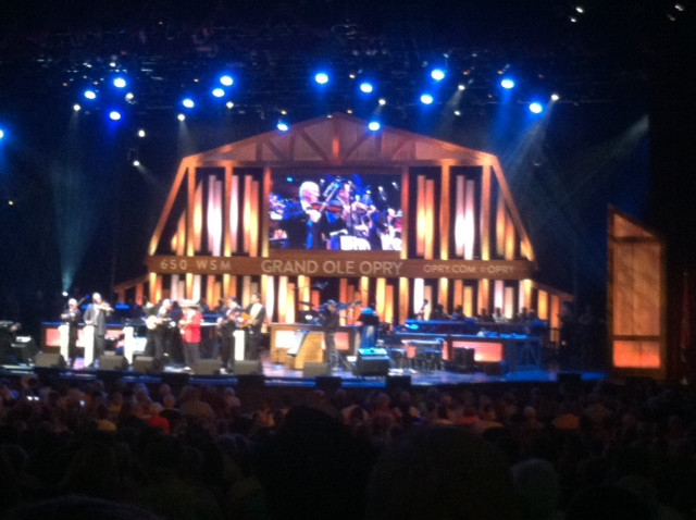 Kent and Rebecca's view of the Grand Ole Opry in Nashville last month.