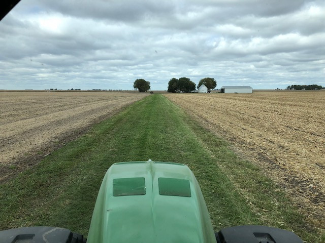 """Kent's cab view of his family's """"back field lane"""" last week / CIFN photo."""