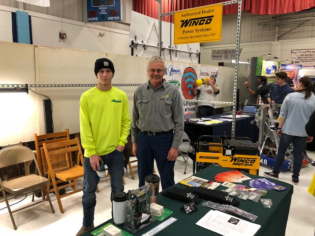 JR Electric's booth is shown Saturday at the PC FFA Farm and Home Show / CIFN photo.