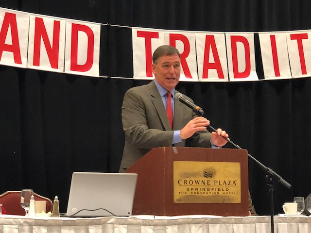New Illinois Ag Dir. John Sullivan speaks at the IAAF Convention in Springfield over the weekend / CIFN photo.