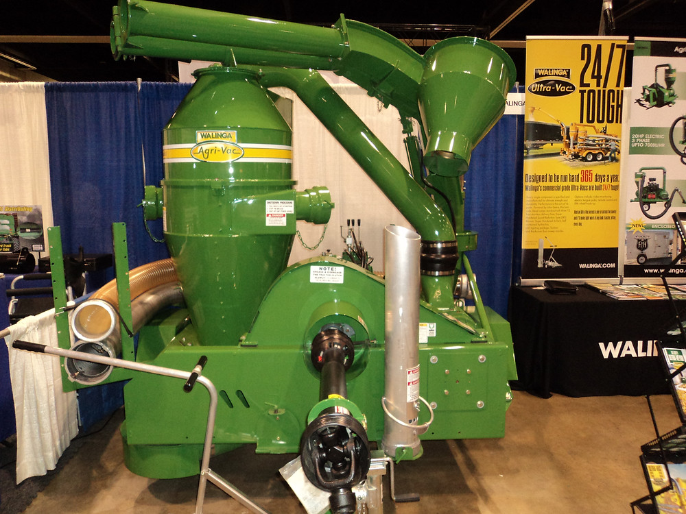 Grain handling equipment from Walinga USA is displayed at the Greater Peoria Farm Show / CIFN file photo.