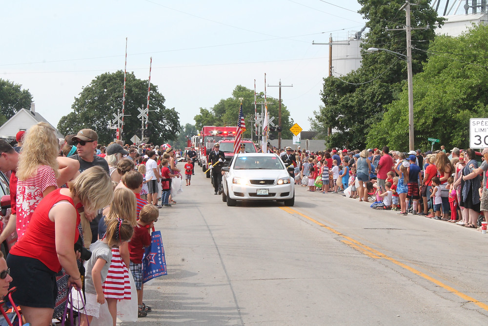 The Towanda Fourth of July parade is shown last week / photo by Rebecca Casson