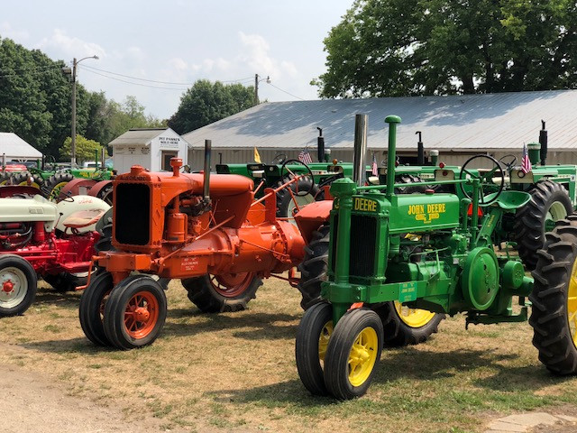 Last year's Fairbury Fair antique tractor display / CIFN photo.