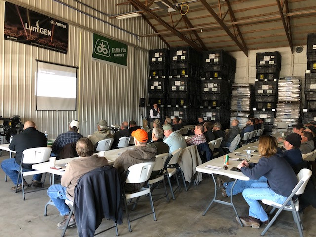 Growers attend the Atkins Seed Service winter planter meeting last week / CIFN photo.