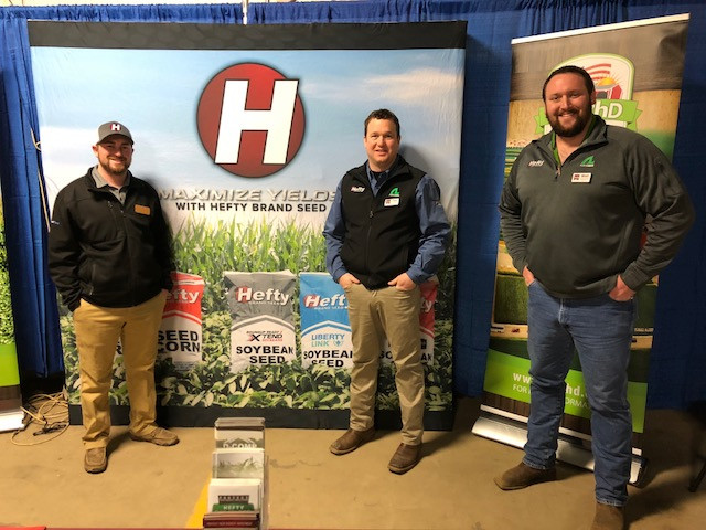 Representatives of Hefty Seeds at this year's Gordyville farm show / CIFN photo.