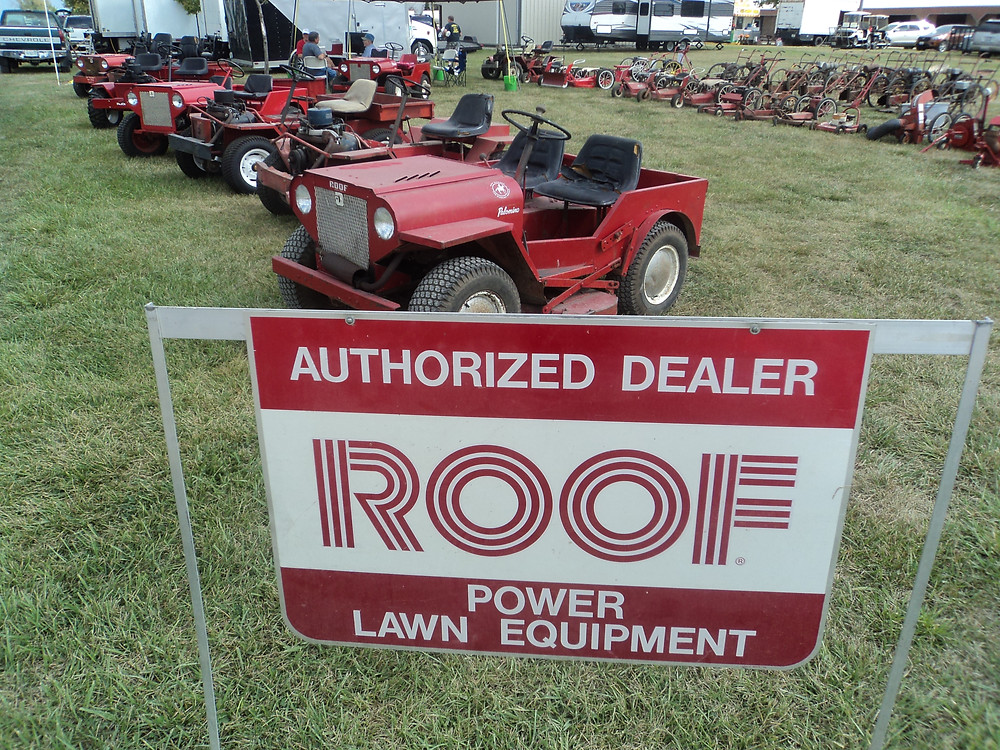 Historic Roof mowers are displayed at the Threshermen's Reunion near Pontiac this week / CIFN photo.