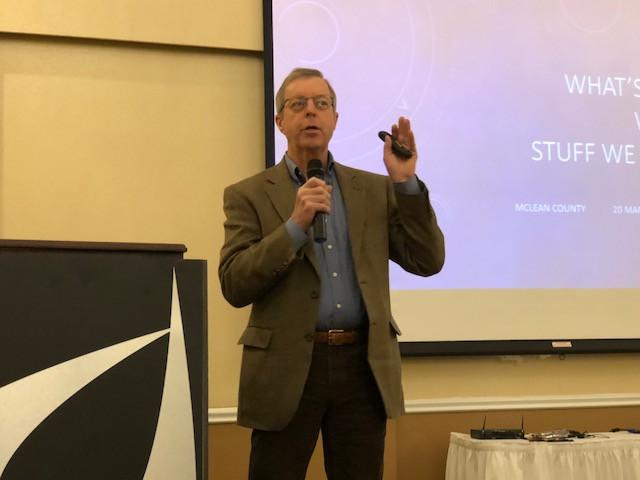 John Phipps speaks Wednesday morning in Bloomington / CIFN photo.