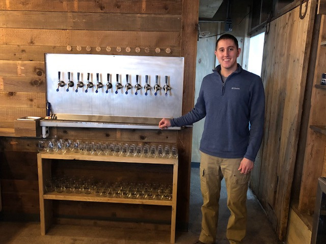 Lincoln Slagel poses at Emancipation Brewing Co., a business he is opening with his dad, Don / CIFN photo.