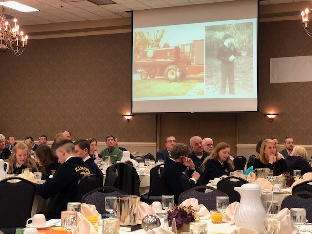 A view of last Thursday's McLean County Ag Awareness Breakfast in Bloomington / CIFN photo.