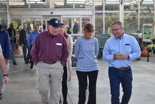 USDA Secretary Sonny Perdue, Jill Tantillo, and Rep. Mike Bost (photo provided by House GOP)