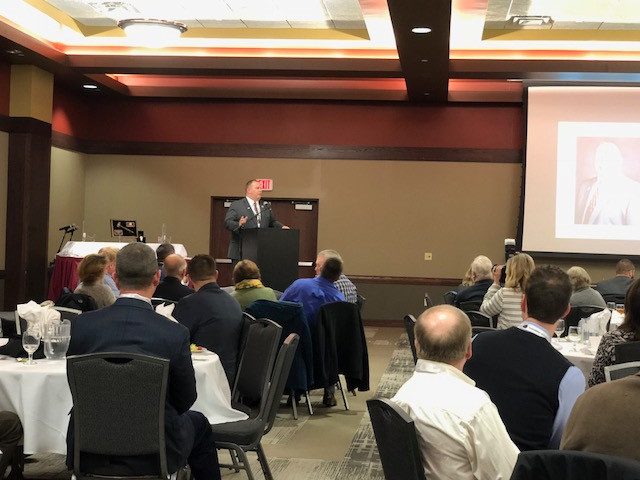 The annual meeting of the Illinois Pork Producers Association is shown last week in Springfield / CIFN photo.