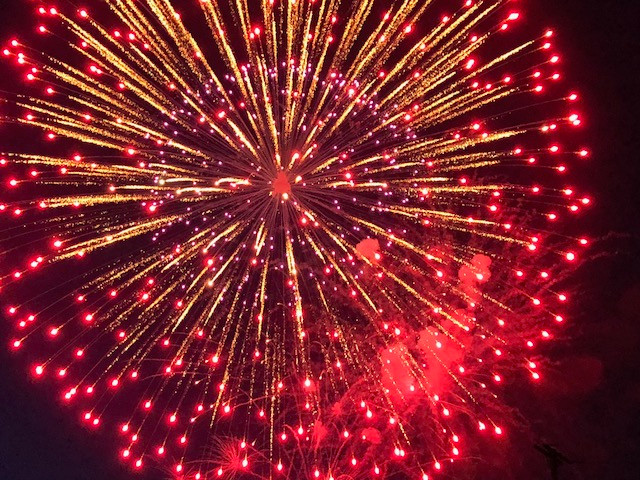 A view of the Sibley fireworks in Ford County Wednesday night / CIFN photo.