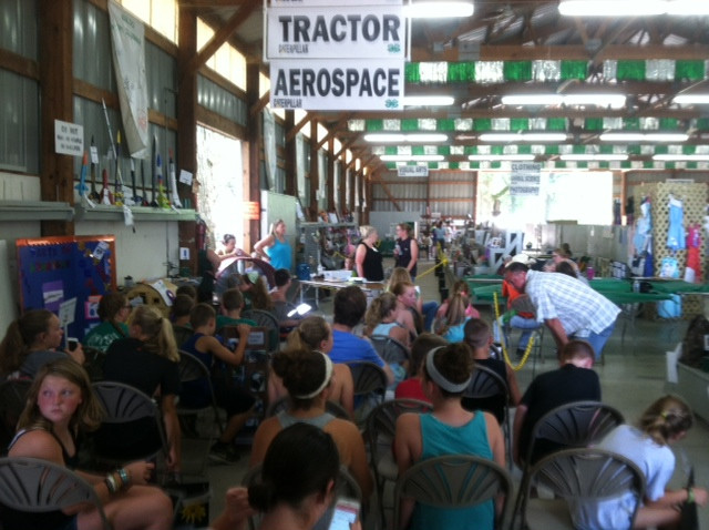 4-H'ers wait to be judged at the Livingston County Fair last week / CIFN photo.