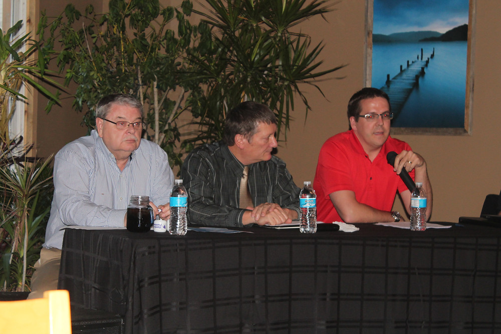 Panelists are shown at last year's CIFN Market Outlook Meeting in Fairbury / CIFN file photo